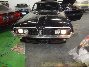 Sample picture of the headlights of a 1968 Mercury Cougar