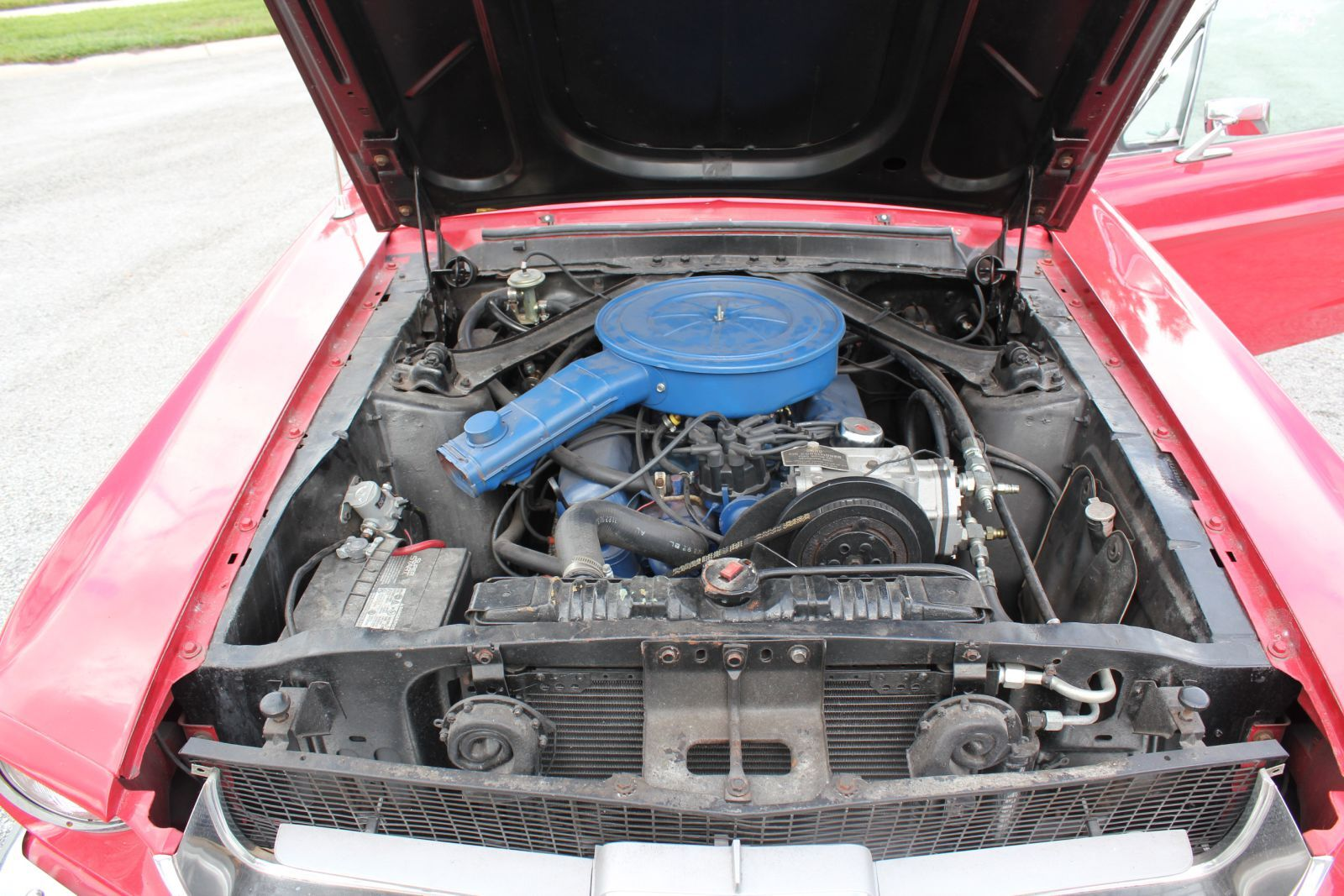 (Sample) The engine compartment from a 1967 Ford Mustang