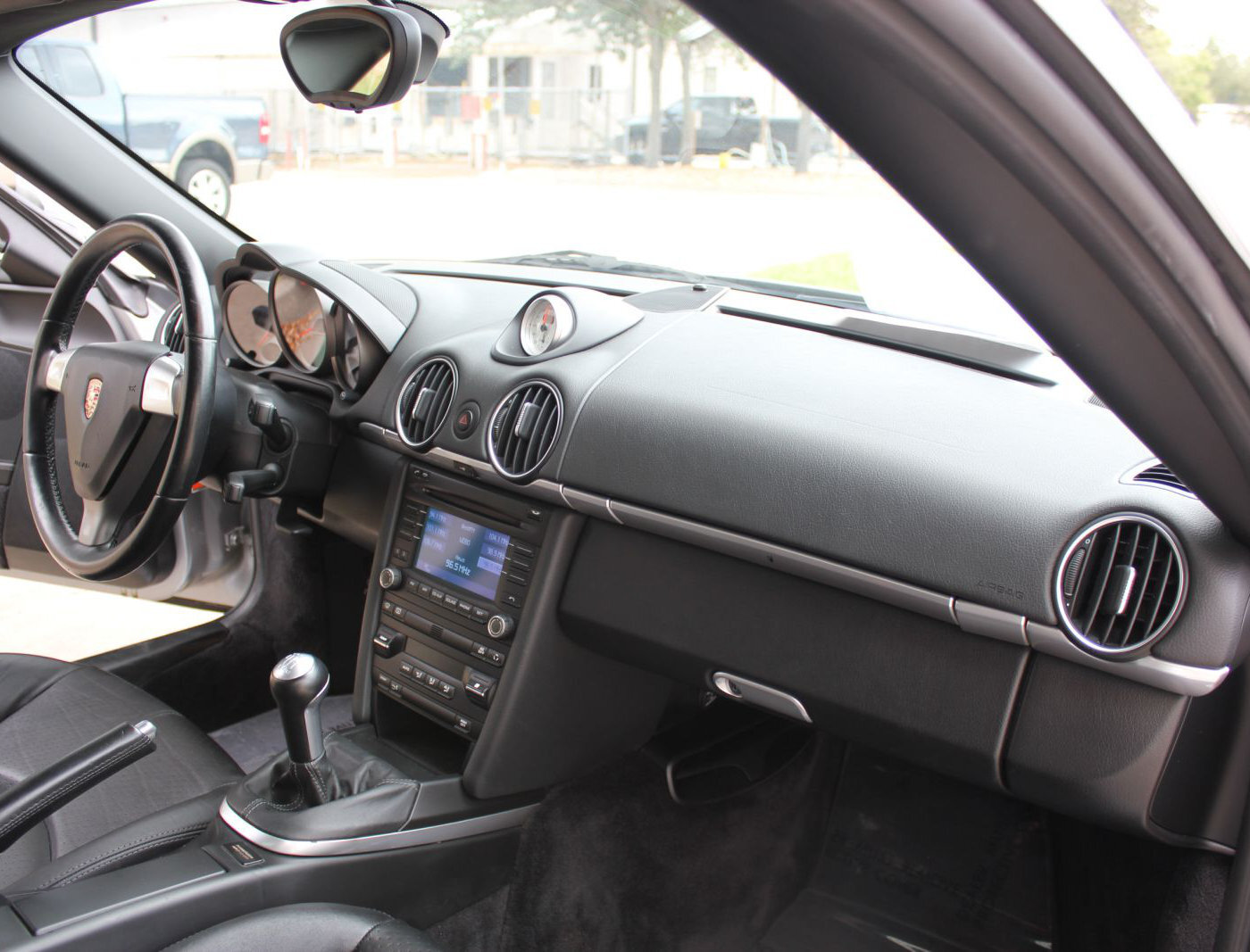 (Sample) The interior of a 2009 Porsche Cayman