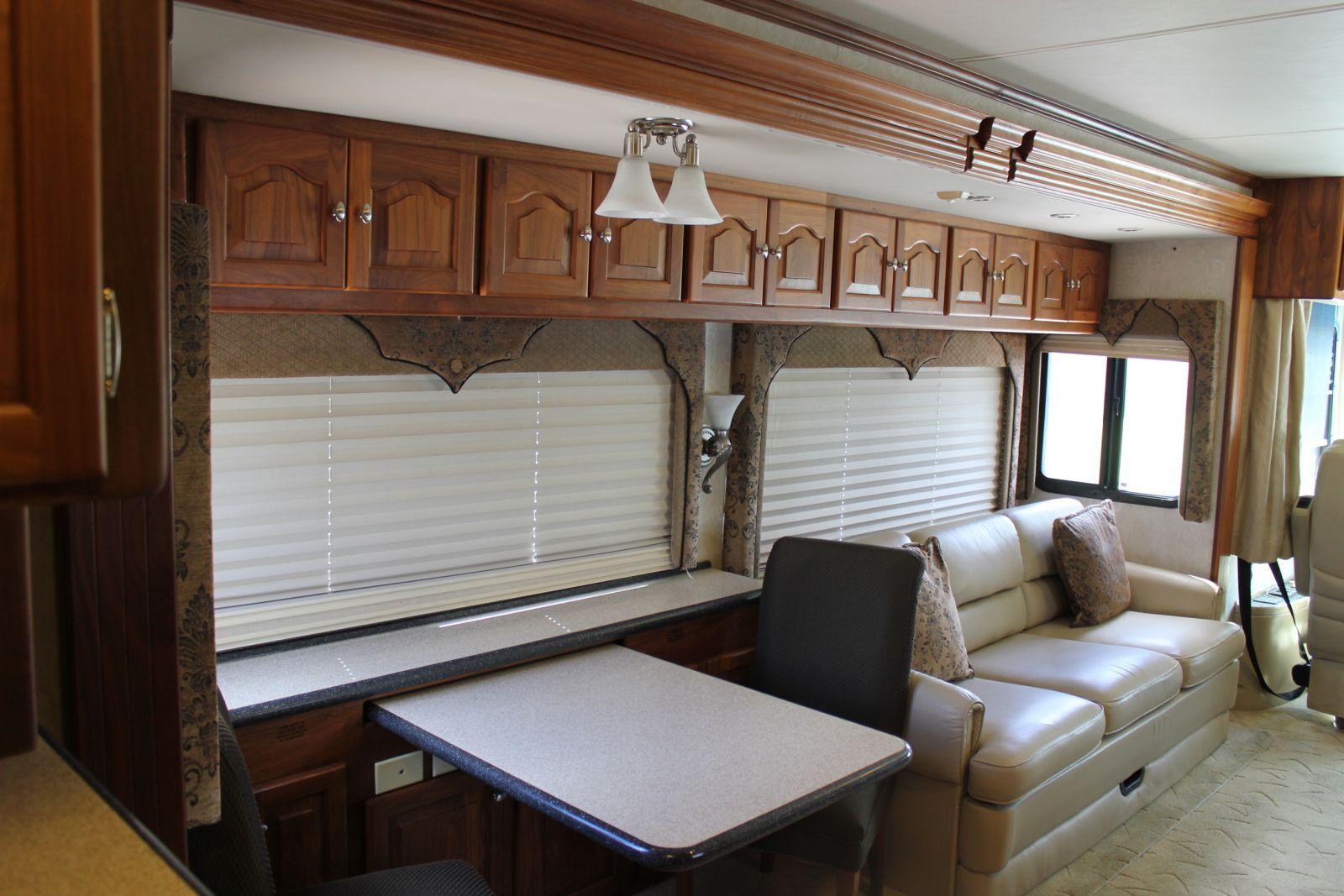 (Sample) The living area of a 2005 Tiffin Allegro Bus
